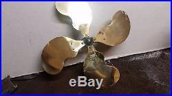 Antique emerson 21646 oscillating fan 12 fan cast hub brass blade pat 1899