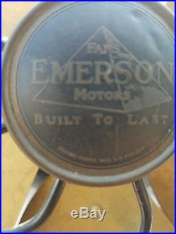 Antique emerson 3 speed oscillating 29668 16 brass 6 blade fan