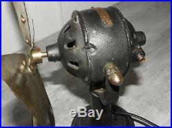 Antique fan Electric iron retro art deco vintage machine age desk ventilator old