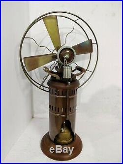 Antique kerosene operated steam fan decorative working vintage museum 26'