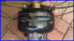Antique metal Electric Fan Emerson Brass Blades Parker for restoration or parts