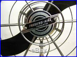 Antique vintage 50's Fresh'nd Aire 20 electric fan 2000 3 spd. Modern, industrial