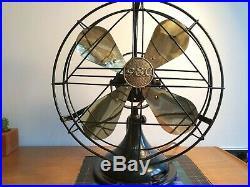 Antique / vintage General Electric Company GEC art deco electric desk fan
