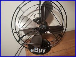 Antique vintage art deco GEC General Electric Company desk fan