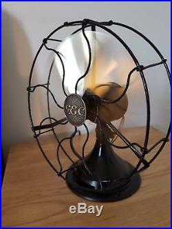 Antique vintage art deco GEC General Electric Company small desk fan