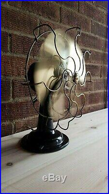 Antique / vintage art deco electric desk fan by Revo