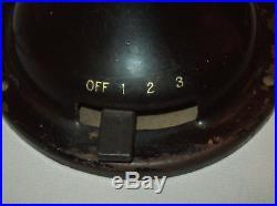 Antique vtg 1901 General Electric 823674 Oscillating Fan Works Brass Blades Cage