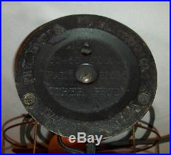 Antique vtg 1930s Bakelite Electric Fan Heater Master Bilt Heat Circulator Works