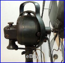 Antique vtg Orig Green GE Oscillating 16 FAN Type DO AK1 60561 General Electric