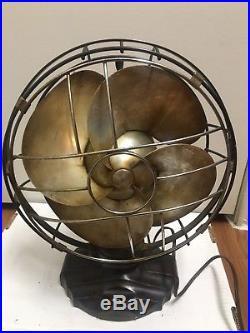 Art Decor Vintage Antique Electric Fan, Emerson Silver Swan