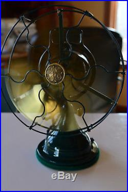 Beautiful Restored Antique 9 Inch GE Brass Electric Fan