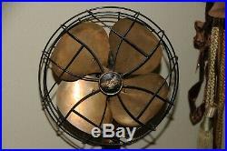 Brass Antique Fan Vintage Brass Rare Emerson Fan 6250 Art Deco Mic Stand base
