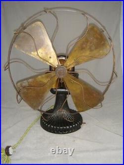 Circa 1897 16 Peerless Bipolar Fan Runs Great. Rare Fan