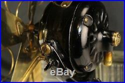 Clean Antique 16 4 Brass Blades GE Industrial Tilt & Swivel Desk Fan Working