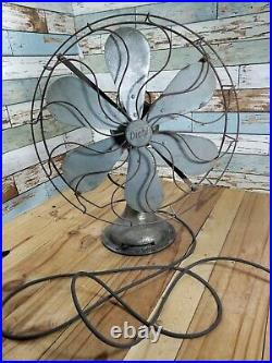 Diahl Vintage 16 Inch 6 Blade Rotating 22 Inch Tall Fan Working