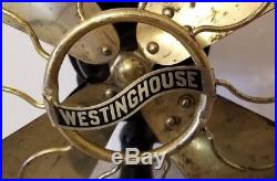EARLY 1900's Antique WESTINGHOUSE FAN, 12 Blade, Alternating Current, WORKS