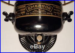 EMERSON 11644 with coleman deflector antique electric fan