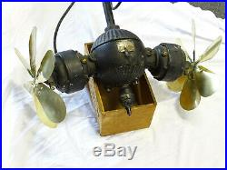 EXTREMLY RARE ANTIQUE Westinghouse Electric 2-Blade Gyro Ceiling Fan