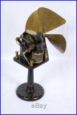 Early antique bipolar fan made by Ziegler Electric Co. Boston Mass