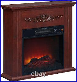 Electric Fireplace Fan Forced Heater LED Flame Freestanding Remote Control New