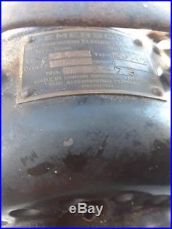 Emerson 12 Model 29646 Antique electric fan brass blade work. Vintage antique