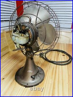 Emerson Electric Vintage Antique Fan Cone Base Works Great