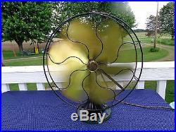 Emerson antique 6 brass blade fan oscillating 3 speed vintage 1922 runs great