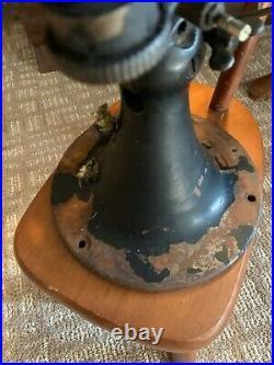 Emerson4 blade A17826 brass fan 12 INCH Blade no cord rare old antique