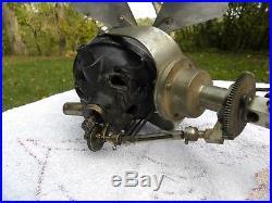 Ercole Marelli Ceiling Electric Fan Antique Brass Zephir Very Rare Ventilateur