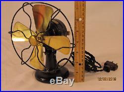 Exc & unrestored, Antique Polar Cub Type G Brass Bladed Electric Fan It Works