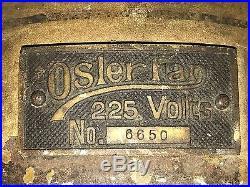 F & C OSLER ANTIQUE DC ELECTRIC CAST IRON CEILING FAN 1910s RARE F/M CHANDELIER