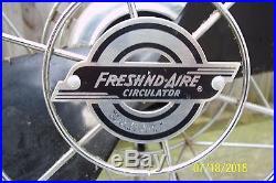 FRESH'ND AIRE # 14 Art Deco 1940's Chrome Electric Fan