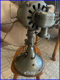 GE 4 blade Metal fan 16 INCH Blade no cord SEE PLAQUE rare old antique