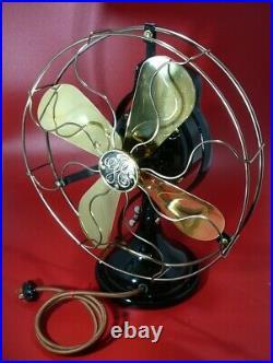 GE Antique Fan, 13 Cage, c. 1919, Collectors Dream. Restored, Authentic, Beautif
