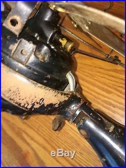 GE Brass Electric Fan Old Motor 12 Six Blade Antique Vintage Early