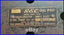 GEC 12 SWEEP FAN 1930-40s OSCILLATING 3 SPEED