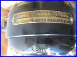 Ge 6 Wing Awesome Antique Ge Fan Vintage Ge Fan Brass Blade Fan Old Electric Fan