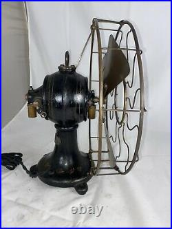 Gorgeous Original Finish 1897 Brass Blade And Cage Sprague Lundell DC Fan
