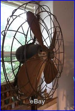 Large Antique Pedestal Fan