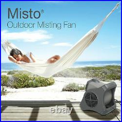 Lasko 15 Pivoting Misto Outdoor Misting Fan with GFCI Cord and 3 Speeds, Black