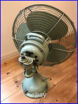 MITSUBISHI Antique Electric Fan 3 Stages Air Volume Old Tool Showa Retro Japan