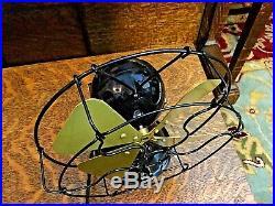 Menominee Electric Ball Fan Antique Vintage Old Restored