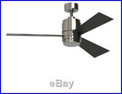 NEW 48 In Vintage Antique Electric Nickel Indoor Light Ceiling Fan 3 Blades