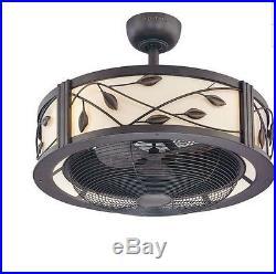NEW Antique Vintage Electric 23 In Dark Bronze Ceiling Fan 3 Blades Light Remote