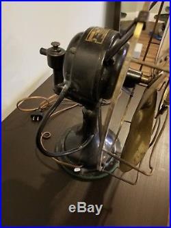 NICE antique WESTINGHOUSE BRASS-BLADE/CAGE old Vintage fan 6