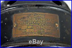 Nice 16 Century S3 Skeletal Motor Oscillating Fan Electric Antique Early Stump