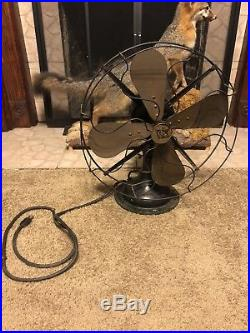 OLD ANTIQUE VTG R&M ROBBINS & MYERS No 3854 OSCILLATING ELECTRIC FAN