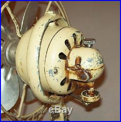 Old antique vtg 1930s Small 8 General Electric Fan GE Oscillating Works Great