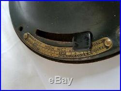Original Antique General Electric Brass Blade Oscillating Fan 13 Type AUU AF1