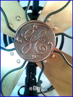 Original G E Antique Brass Electric 16 Blade Fan #75425 Fantastic Cond & Works